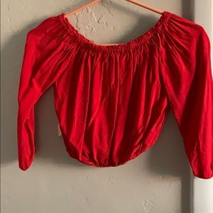 Tops - Flowy cropped long sleeve